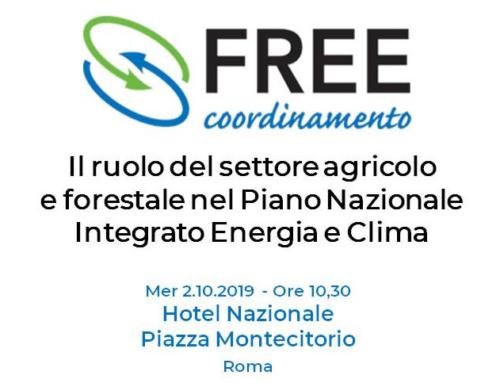 2 ottobre 2019 – L'Italia che rinnova al convegno del Coordinamento FREE