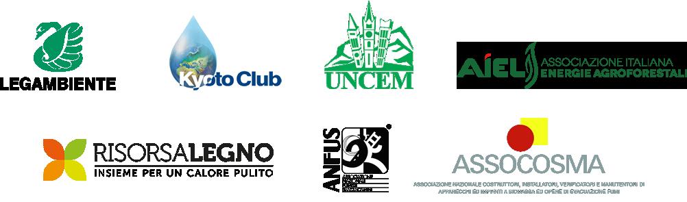 LEGAMBIENTE | KYOTO CLUB | UNCEM | AIEL | RISORSA LEGNO | ANFUS | ASSOCOSMA